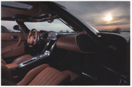 Regera interior, A6-size postcard, factory-issued, English text, 2015