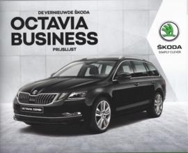 Octavia Business pricelist brochure, 20 pages, Dutch language, 03/2017