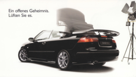 9-3/9-5 test drive brochure, 4 pages, about 2005, German language