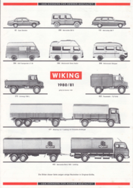 Wiking scale models H0 brochure, 6 pages, 1980/81, German language