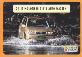 Grand Vitara, DIN A6-size postcard, Dutch language, 1999