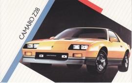 Camaro Z28,  US postcard, standard size, 1986