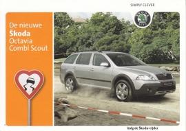 Octavia Combi Scout, A6-size postcard, Dutch, about 2009