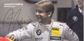 DTM driver Augusto Farfus, oblong autogram card, 2015, German/English