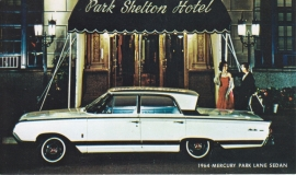 Park Lane Sedan, US postcard, standard size, 1964