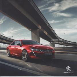 508 Sedan accessories brochure, 12 pages, Dutch language, 05/2018