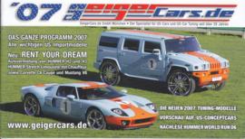 Geiger US Cars brochure, 28 pages, 2007, German language