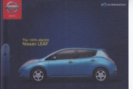 Leaf electric car postcard,  DIN A6-size, about 2014, German language,  lenticular card