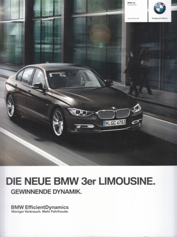 3-series Sedan brochure,  84 pages, 2/2011, German language