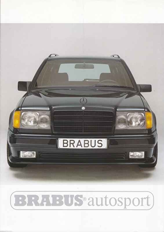 Brabus tuning W124 T brochure. 4 pages, about 1994, German language