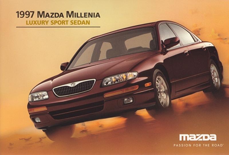 Millenia Luxury Sport Sedan, 1997, US postcard, A5-size