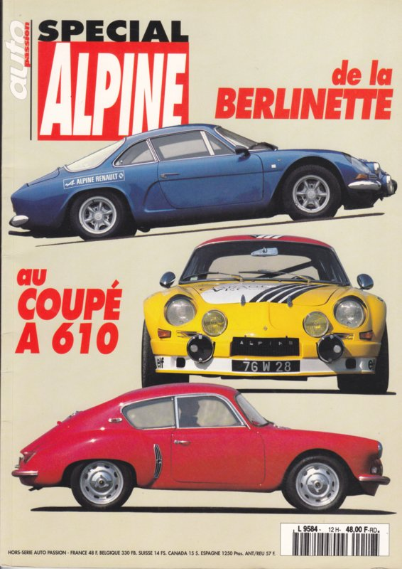 Alpine Berlinetta special edition, 100 pages, 1995, French language