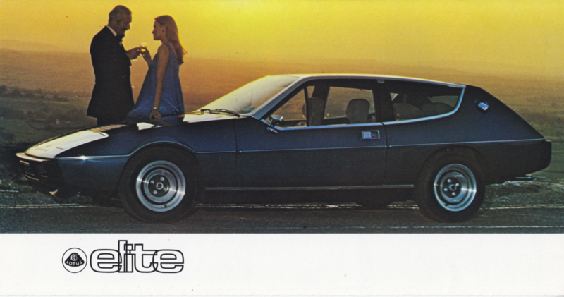 Elite brochure, 6 pages, factory-issued, 9/1976, English language