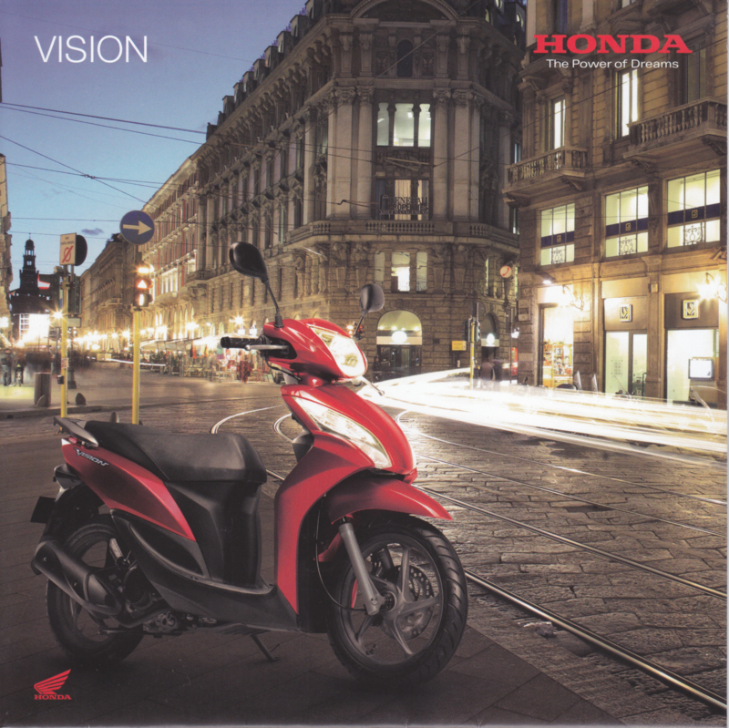 Honda Vision Scooter brochure, 18 pages, about 2013, Dutch language