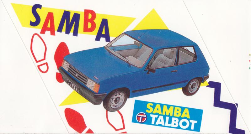 Talbot Samba, sticker, 17 x 9 cm