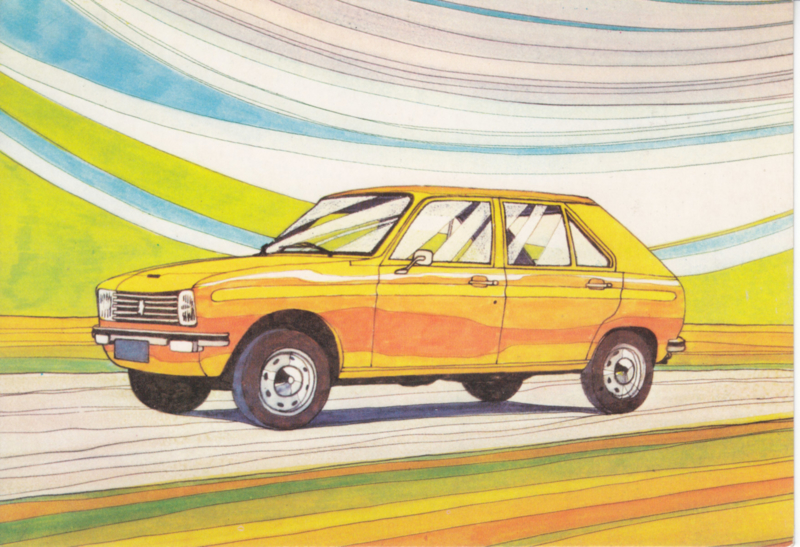 104 Hatchback, A6-postcard, Dutch, about 1972