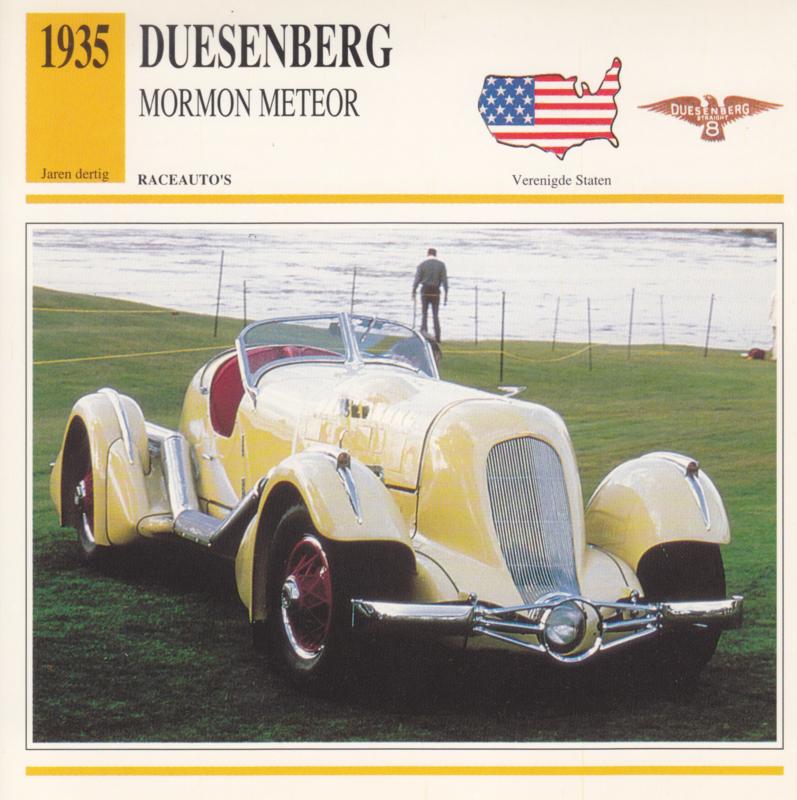 Duesenberg Mormon Meteor card, Dutch language, D5 019 03-06
