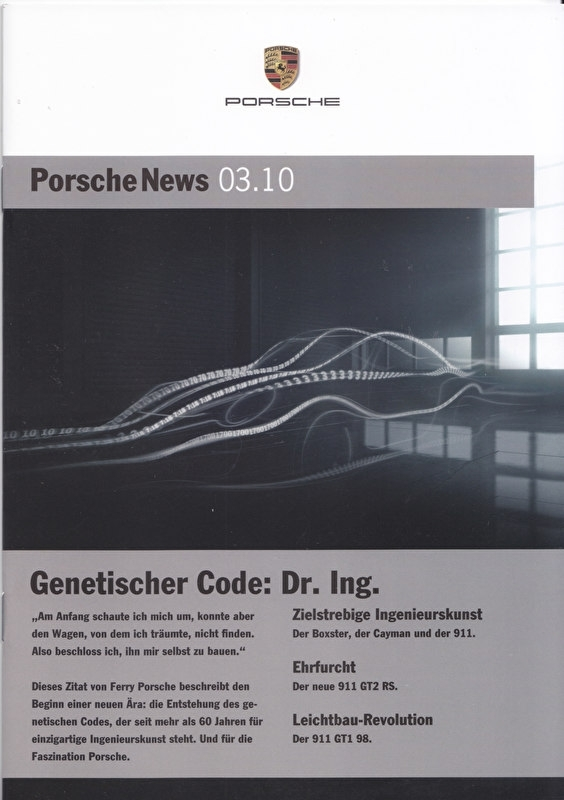 News 03/2010 with Genetischer Code: Dr. Ing., 24 pages, 08/10, German language