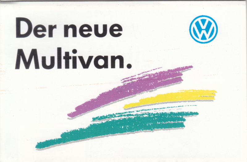 Multivan mini brochure, 20 pages,  German language, about 1994