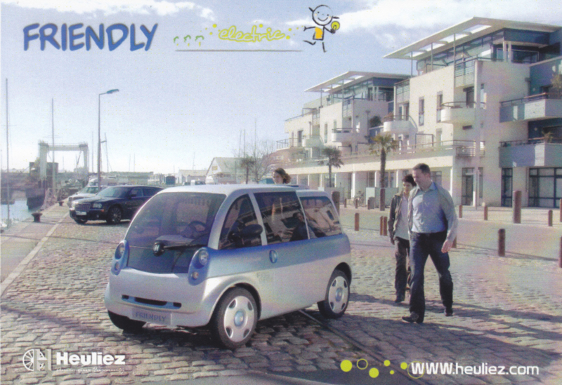 Friendly electric prototype postcard, DIN A6-size, French/English, about 2009