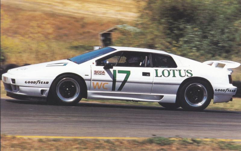 Esprit SE SCCA racer, standard size postcard, about 1990, USA issue