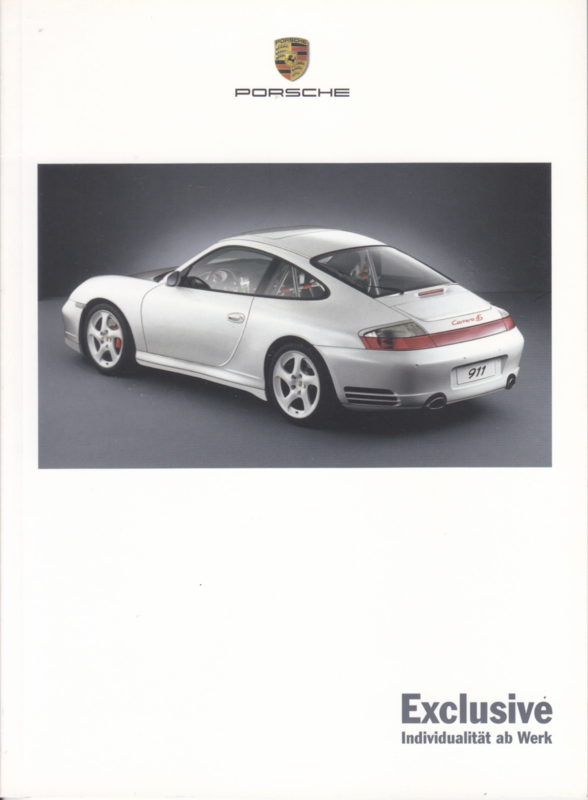 Exclusive brochure 2003, 36 pages, 08/2002, WVK 601 610 03, German