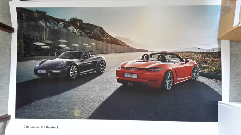 718 Boxster & Boxster S large original factory poster, published 01/2016
