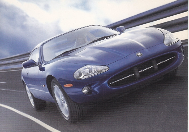 XK8 Sports Car,  large postcard, 16 x 11 cm, Geneva motorshow 1996