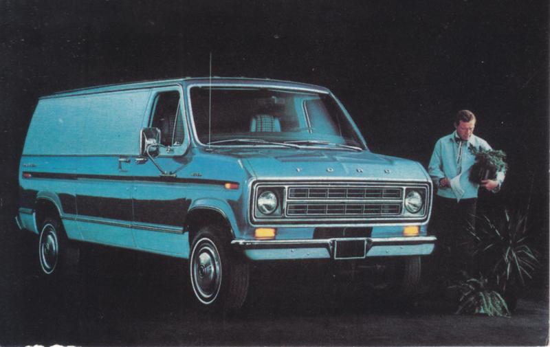 Econoline Van E-350, US postcard, standard size, 1975