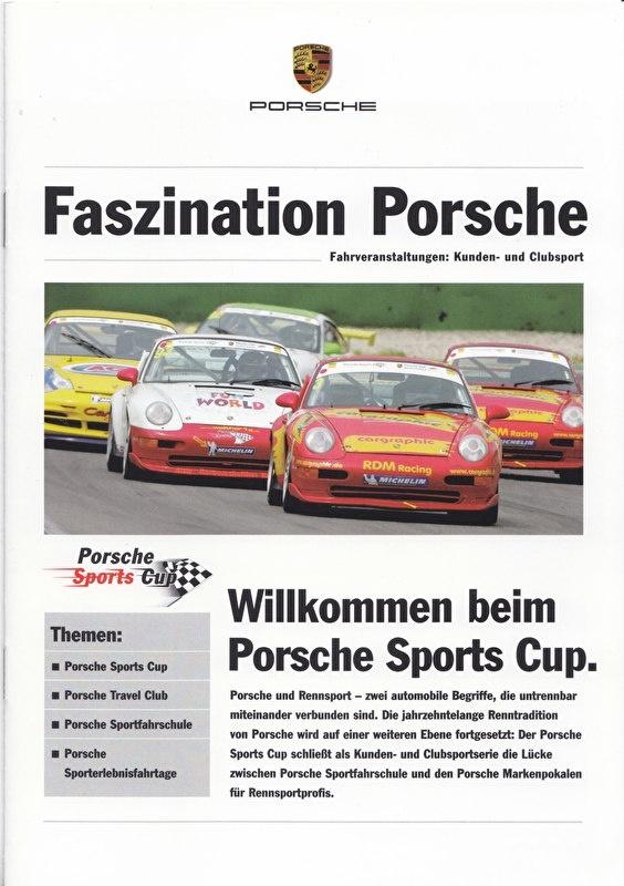 Fascination Porsche special Sports Cup, 12 pages, 11/2005, German language