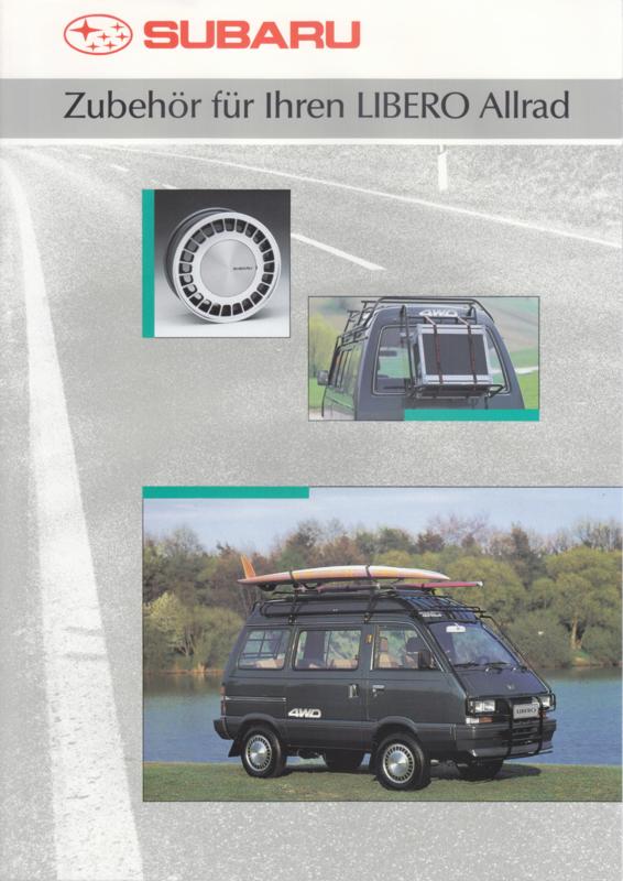Libero Allrad accessories brochure, 4 pages, German language, 05/1991