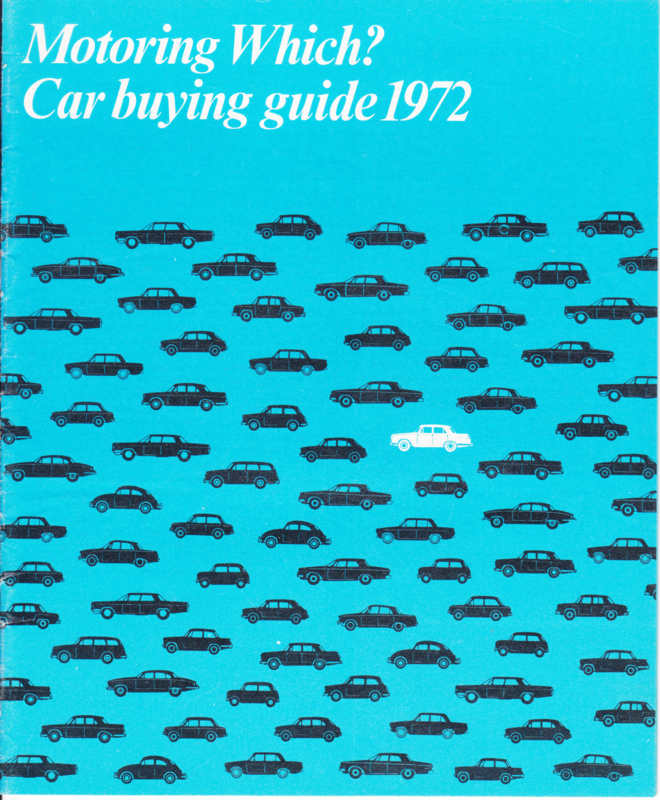 Which Car Motoring buying guide 1972, 40 pages, English language