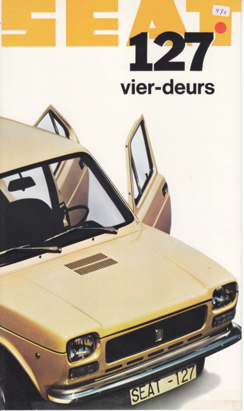 127 4-Door brochure, 4 pages, Dutch language, 1974
