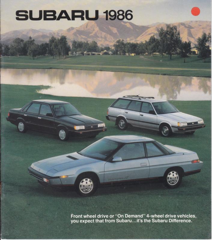 Program brochure, 12 pages, English language, USA, 1986