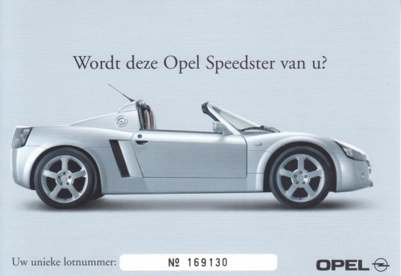 Speedster postcard, DIN A6-size, 2001, Dutch language