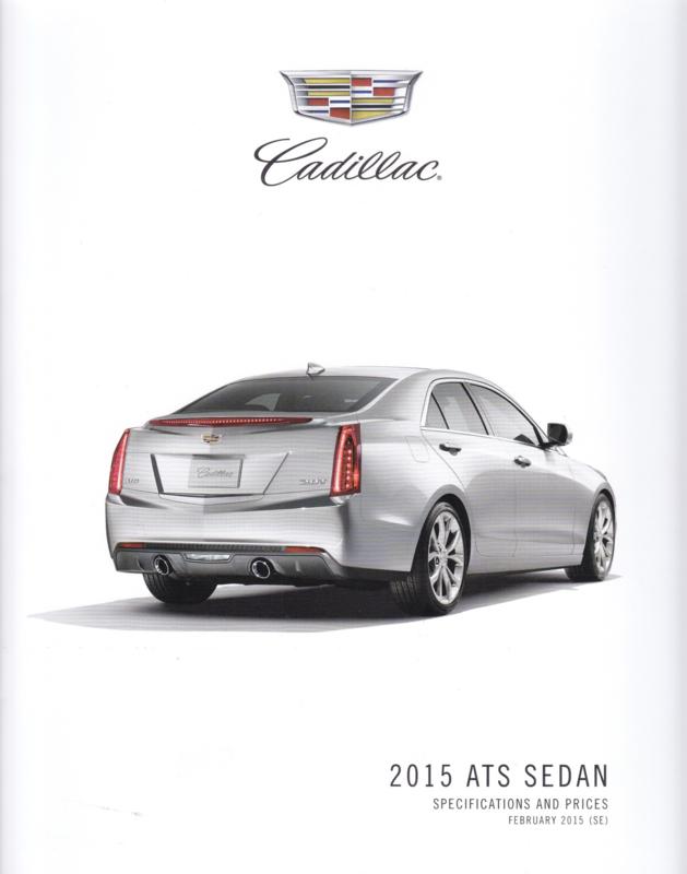 ATS Sedan specs. & prices, 8 pages, 2015, English language