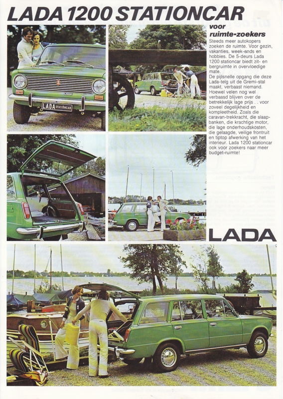 1200 Stationcar leaflet, 2 pages, about 1977, Dutch language