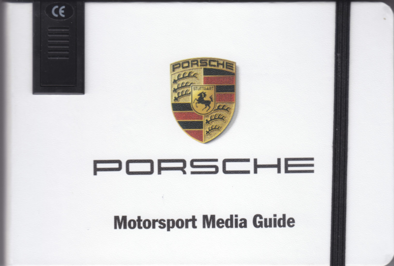 Porsche Motorsport 2015, memory stick with pictures & small booklet, factory-issued,  German/English