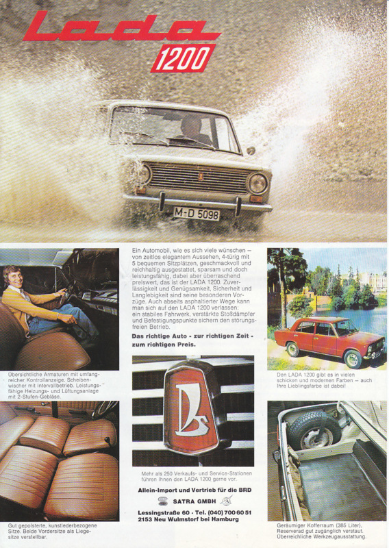 1200 Sedan leaflet, 2 pages, about 1978, German language