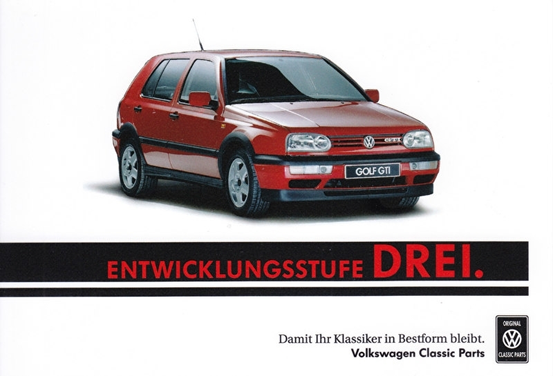 Golf GTI sammelkarte #3, A6-size postcard, German, 2016