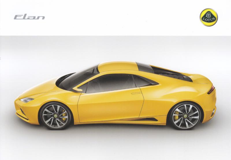 Elan concept sportscar,  A5-size postcard, 2010, UK, factory-issued, English language