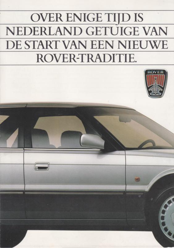 800 Sedan brochure, 6 pages, A4-size, about 1986, Dutch language