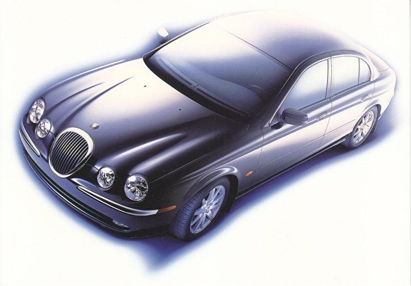 S-Type Sedan,  large postcard, 16 x 11 cm, Switzerland, 1999