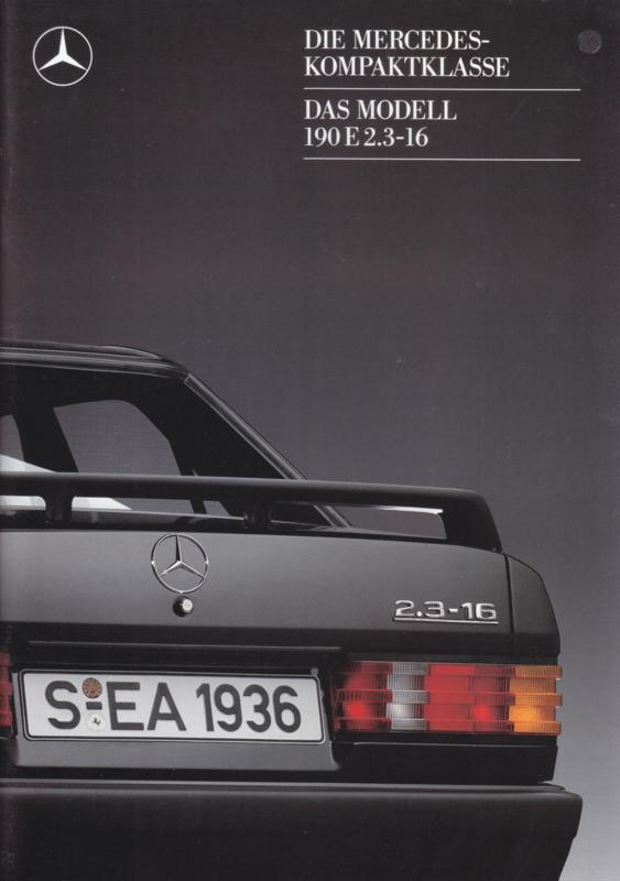 190E 2.3-16 brochure,  28 pages, 08/1987, German language