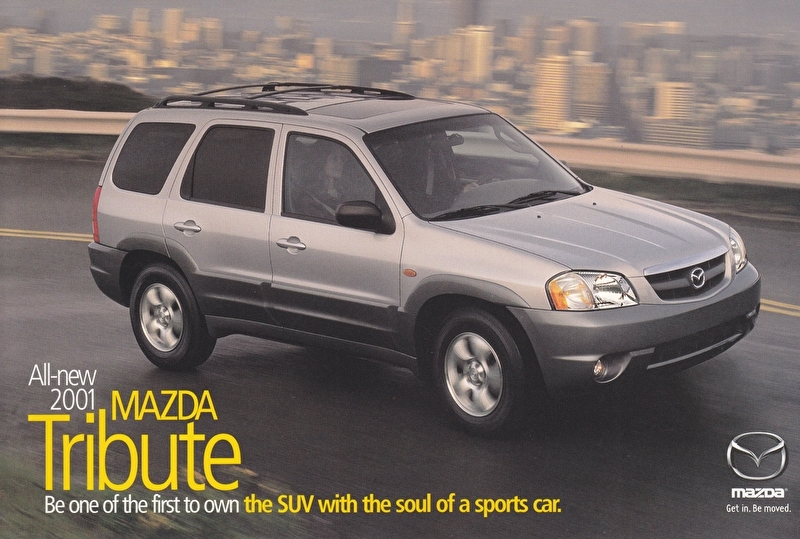 Tribute SUV, 2001, US postcard, A5-size