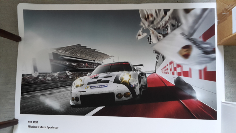 911 RSR sportscar large original factory poster, published 02/2015