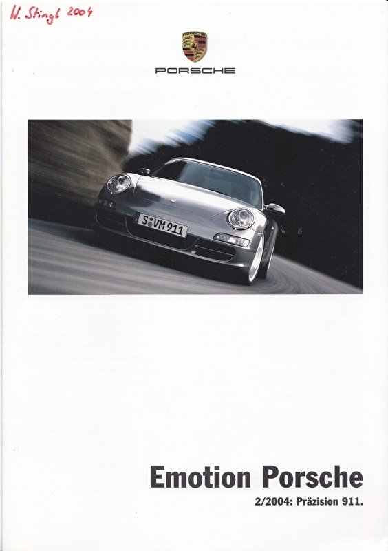 Emotion Porsche 2/2004 with 911 Carrera (997), 8 pages, 08/2004, German language