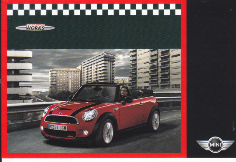 John Cooper Works Cabrio/Convertible postcard, DIN A6-size, about 2014, English language