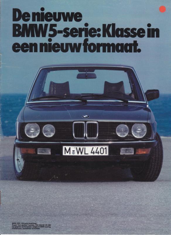 518/520i/525i/528i brochure, 8 pages, 1982, Dutch language