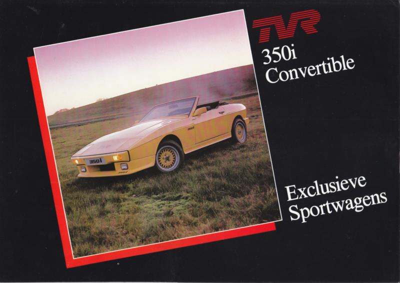350i Convertible brochure, 4 pages, Dutch language, about 1986 *